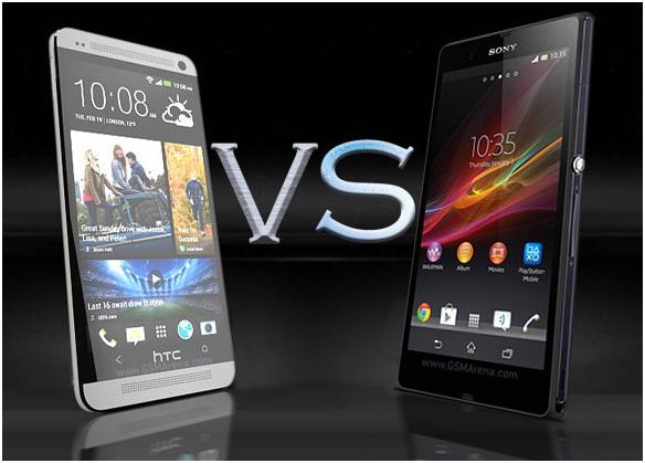 HTC one vs. Xperia Z